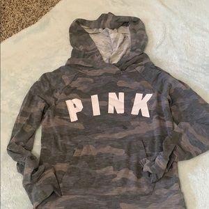 pink camo t-shirt hoodie